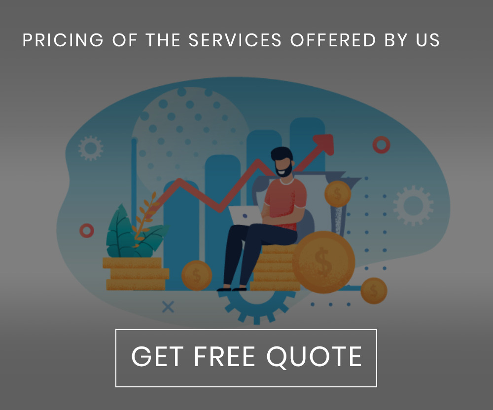 Pricing of the services offered by us