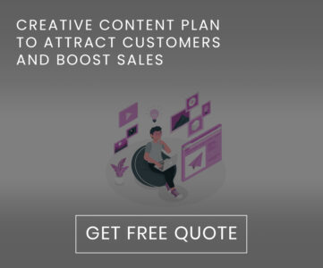 Creative content plan to attract customers and boost sales